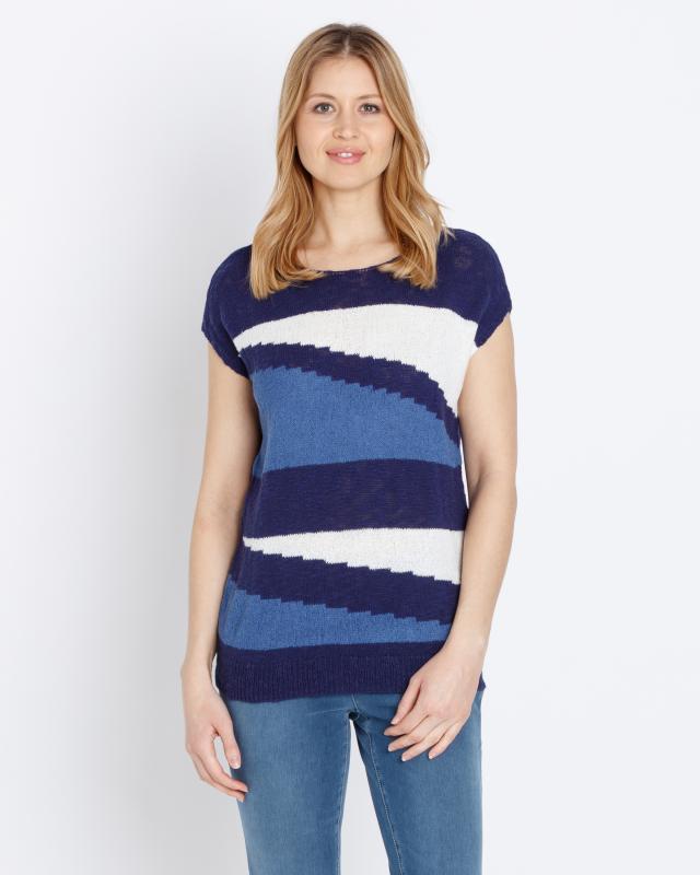 Пуловер, р. 58, цвет темно-синий