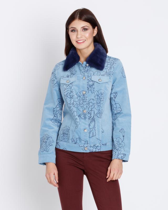Куртка, р. 58, цвет серо-голубой