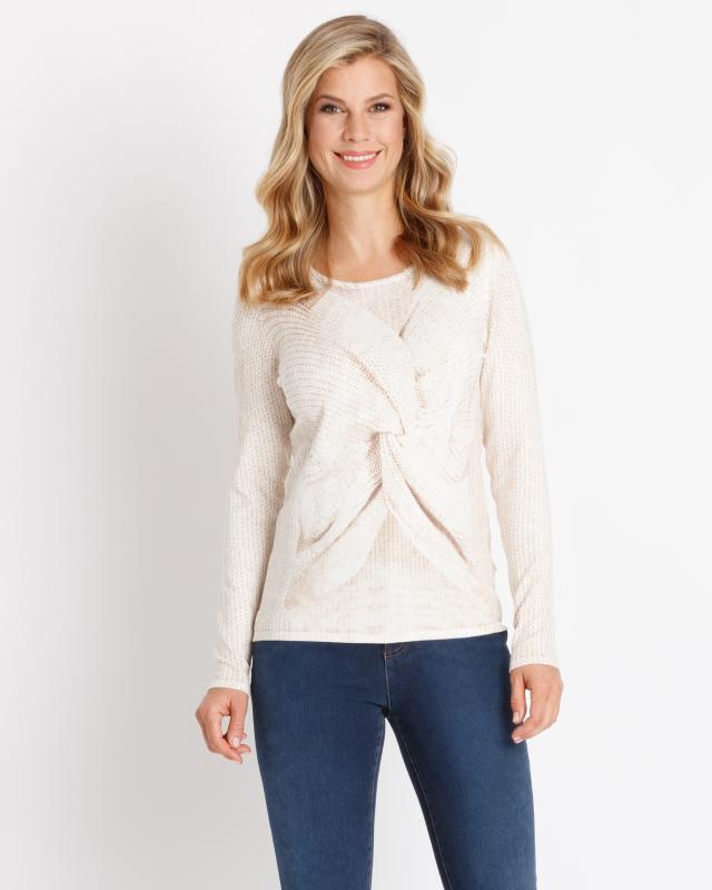 Пуловер, р. 54, цвет коричневый