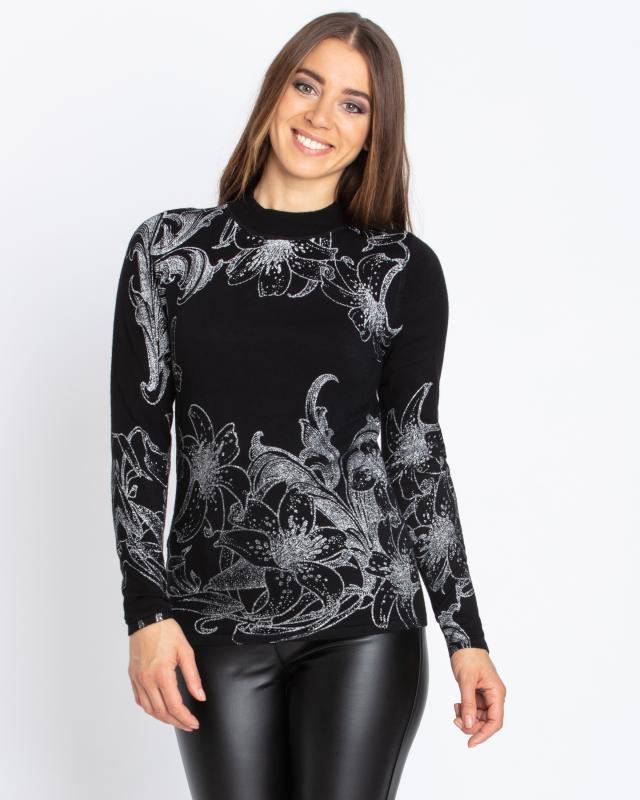 Пуловер, р. 44, цвет черный