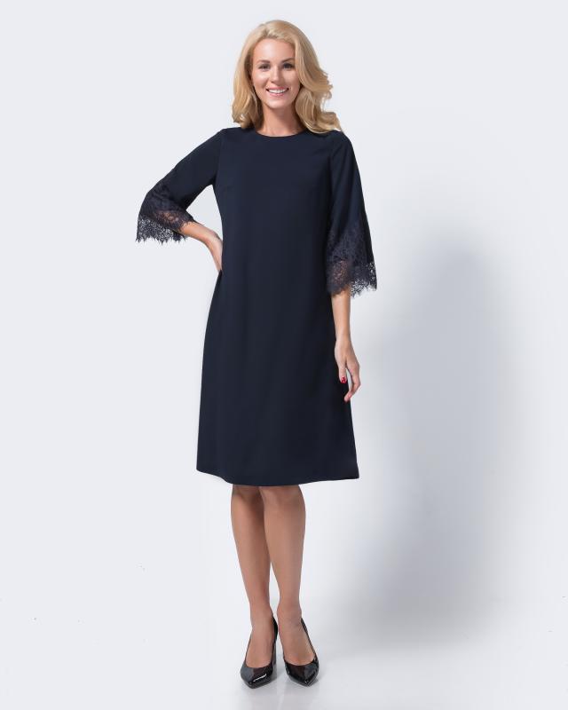 Платье, р. 44, цвет темно-синий
