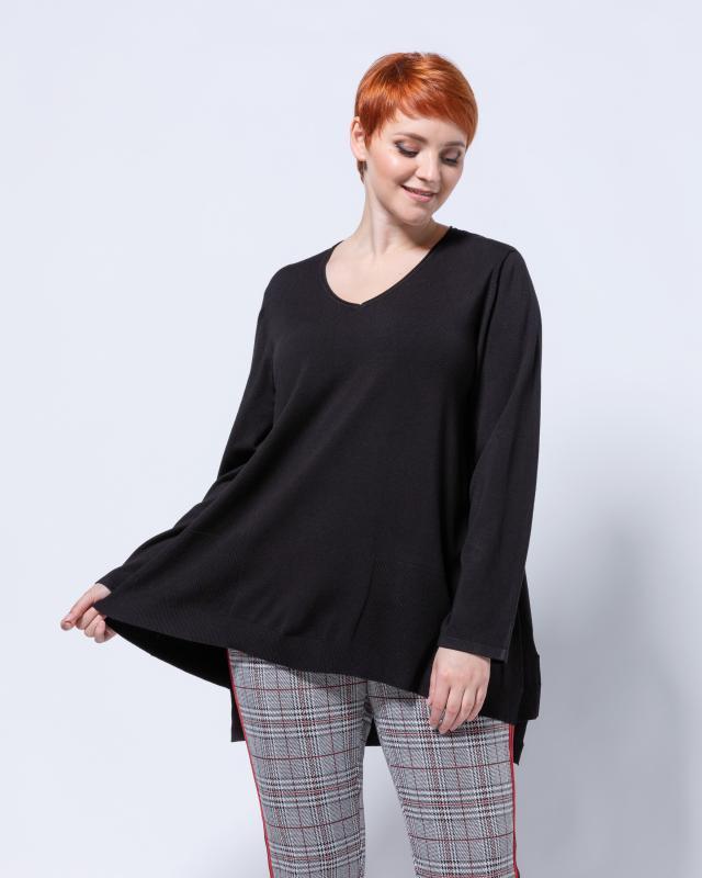 Пуловер, р. 60, цвет черный