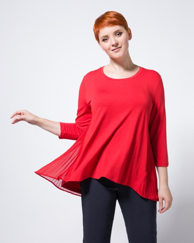 Блузка, р. 52, цвет красный