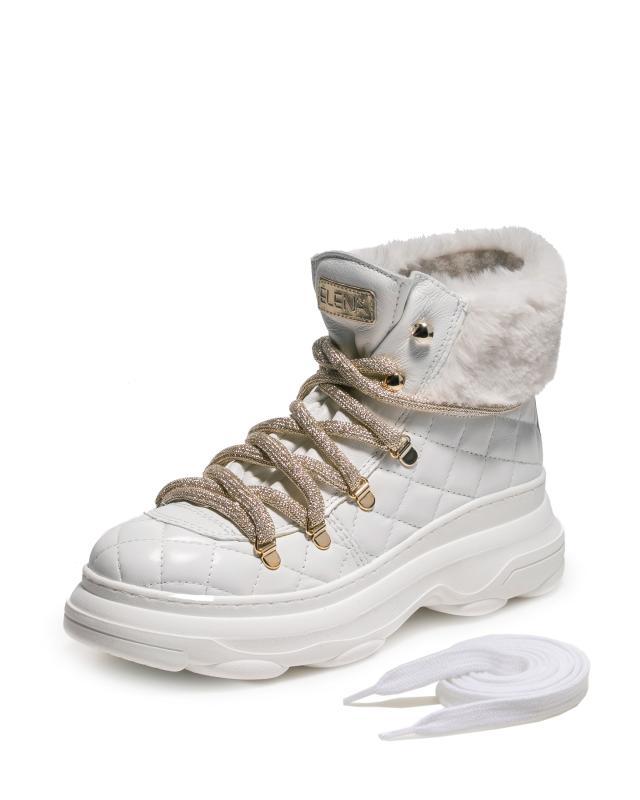 Ботинки, р. 41, цвет белый