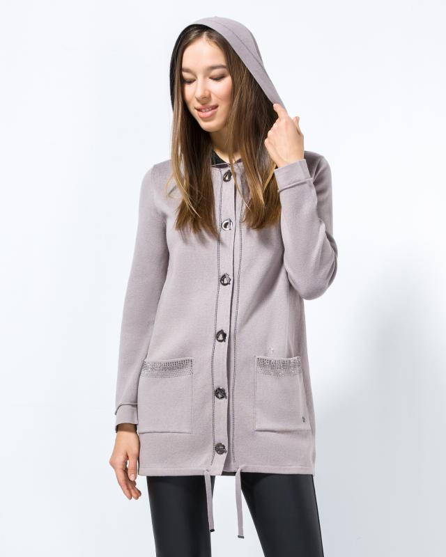 Куртка, р. 42, цвет черныйбежевый
