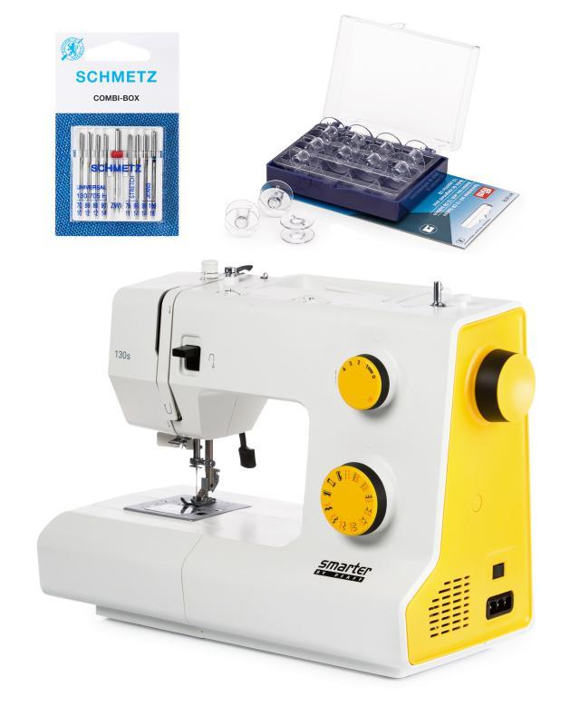 Швейная машина Smarter 130S + 2 набора игл и шпулек Pfaff