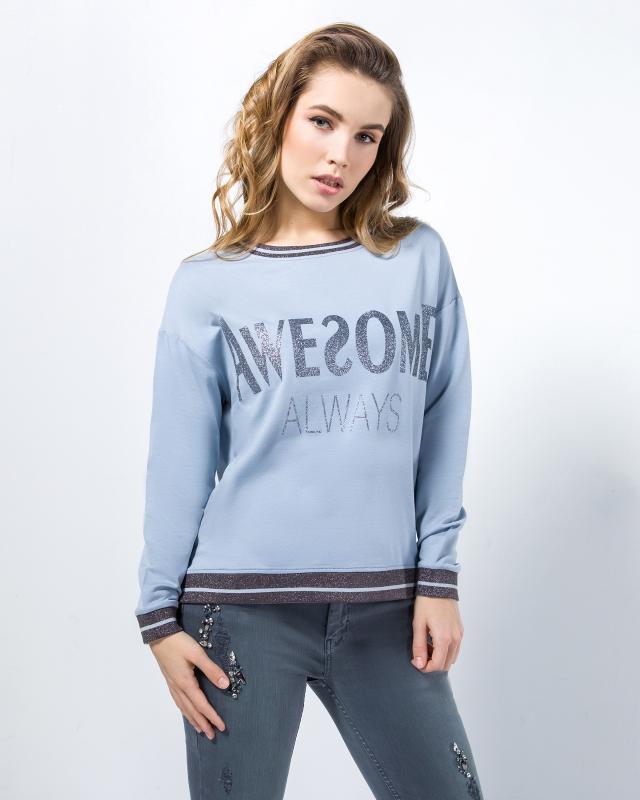 Пуловер, р. 52, цвет голубой