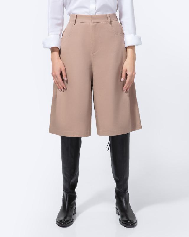 Юбка-шорты, р. 50, цвет бежевый