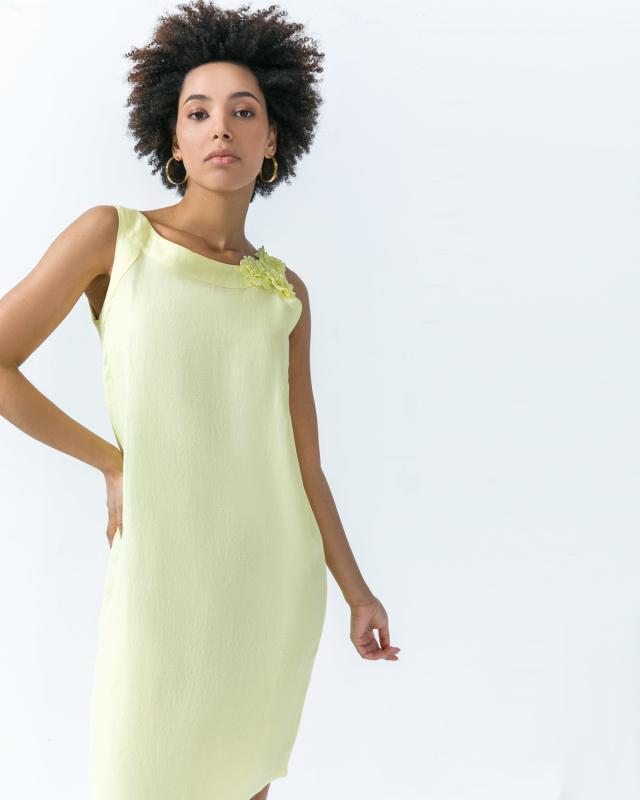 Платье, р. 54, цвет лимонный