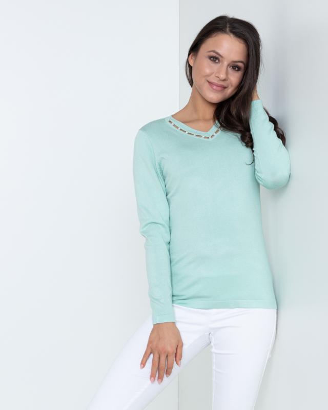 Пуловер, р. 52, цвет мята