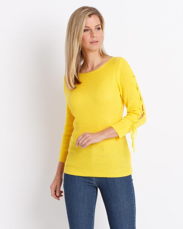 Пуловер, р. 52, цвет желтый