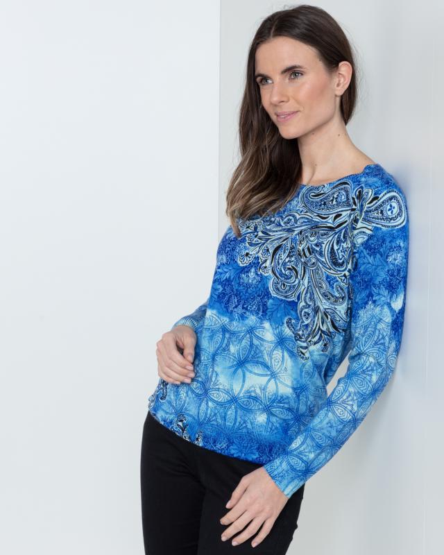 Пуловер, р. 52, цвет темно-синий