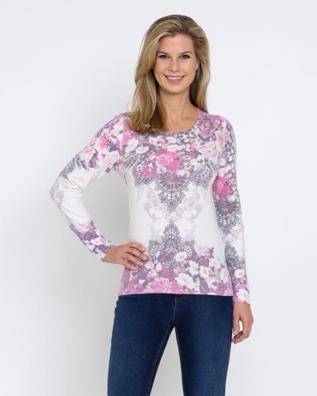 Пуловер, р. 54, цвет розовый