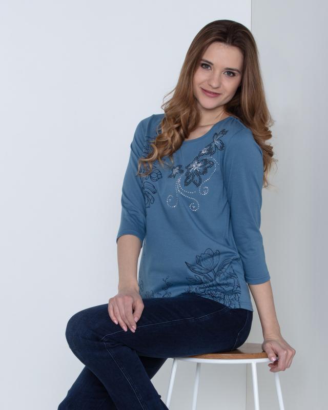 Блуза, р. 54, цвет джинс