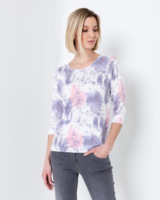 Пуловер, р. 50, цвет мультиколор