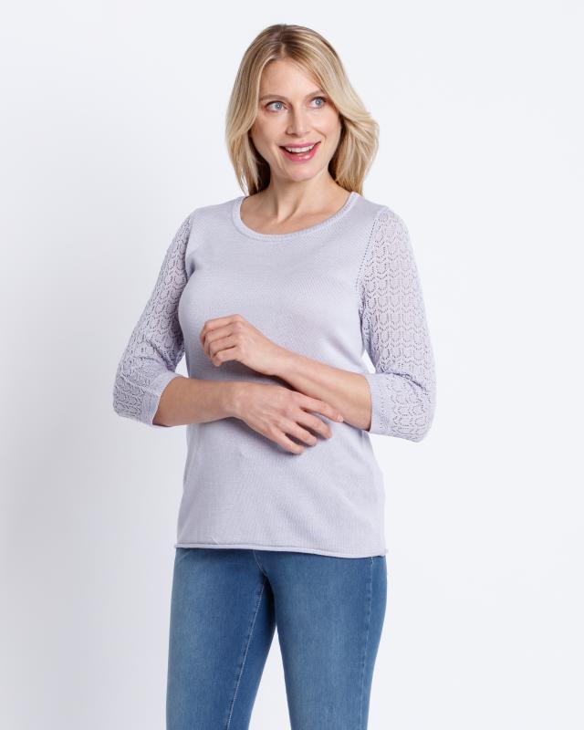 Пуловер, р. 52, цвет сиреневый