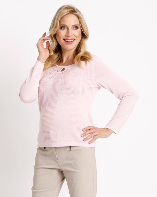Пуловер, р. 60, цвет светло-розовый