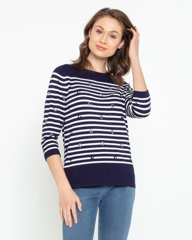 Пуловер, р. 44, цвет темно-синий