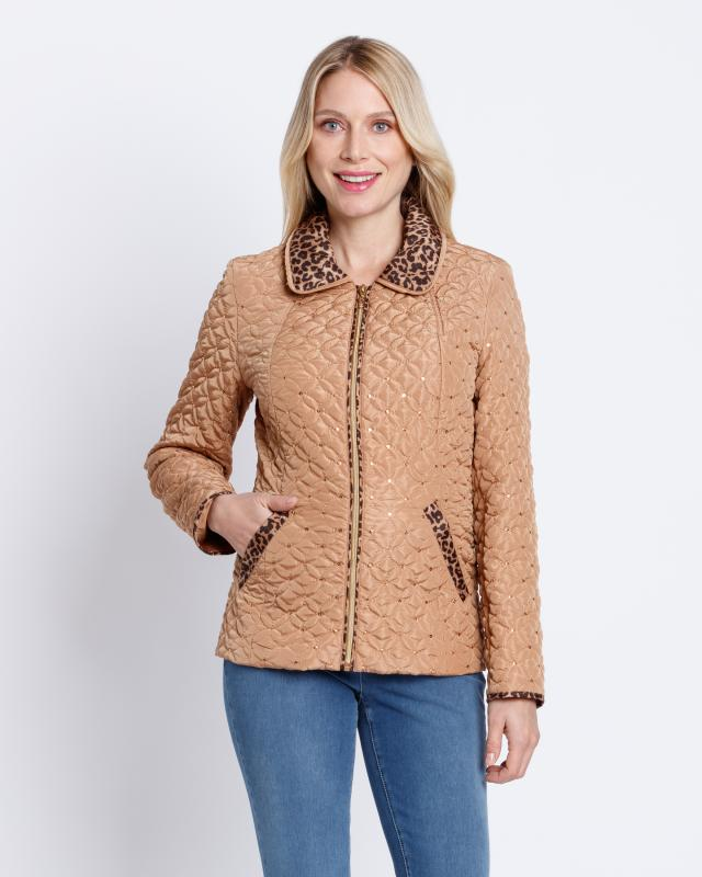 Куртка, р. 56, цвет бежевый