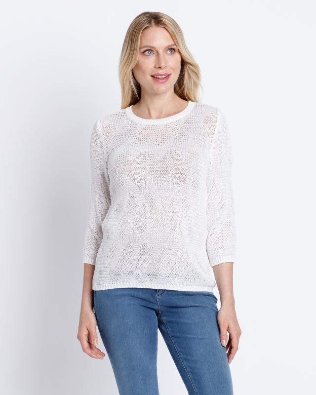 Пуловер, р. 48, цвет белый