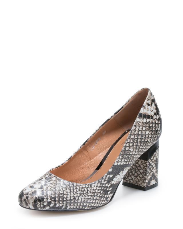Туфли, р. 40, цвет серый/змея
