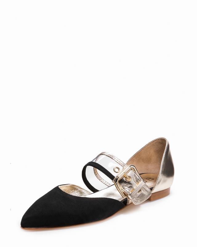 Туфли, р. 36, цвет черный/золотой
