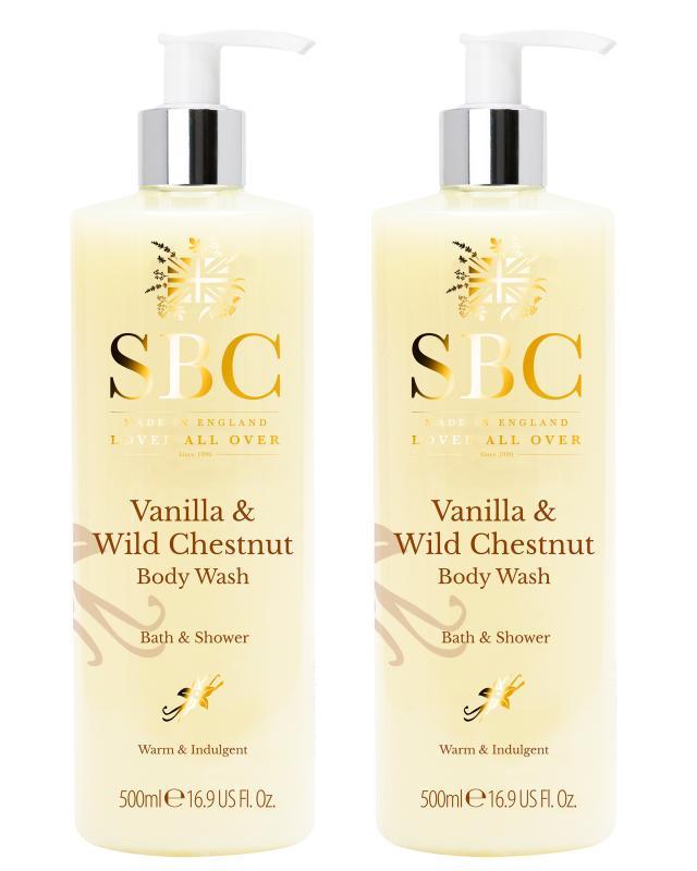 Крем-гель для ванны и душа с экстрактами ванили и каштана, 2 шт. SBC фото