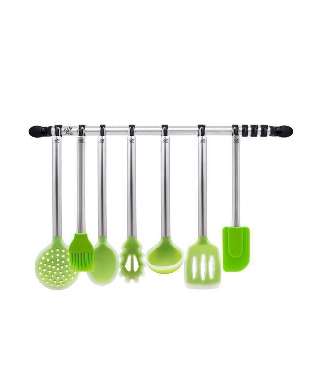 Набор кухонных аксессуаров, 7 предметов + рейлинг AxWild недорого