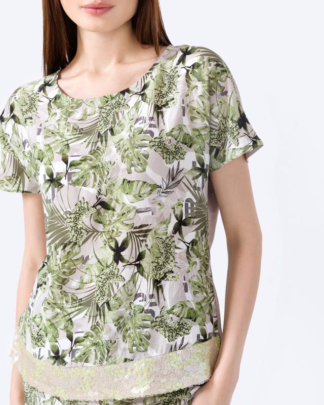 Блузка, р. 60, цвет зеленый