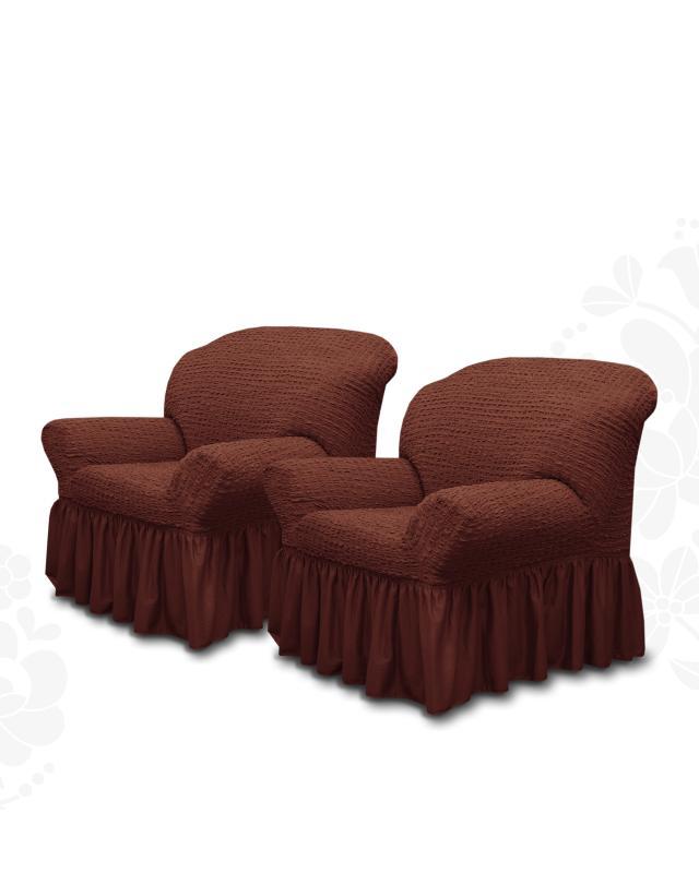 Комплект чехлов на кресло, 2 шт. Mikronesse комплект чехлов на стулья вензель mikronesse