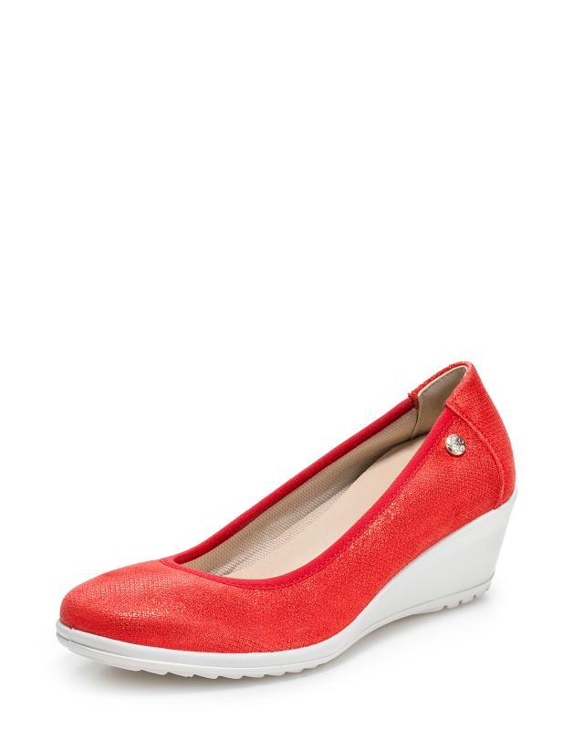 Туфли, р. 40, цвет красный
