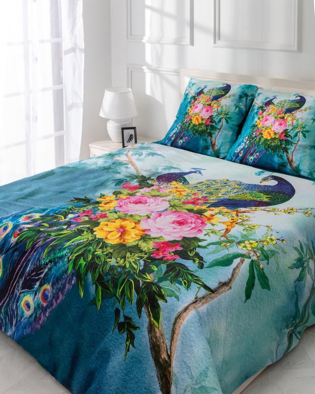 Комплект постельного белья «Величественный павлин» Zauberhaft комплект постельного белья тексдизайн легкое дыхание 1