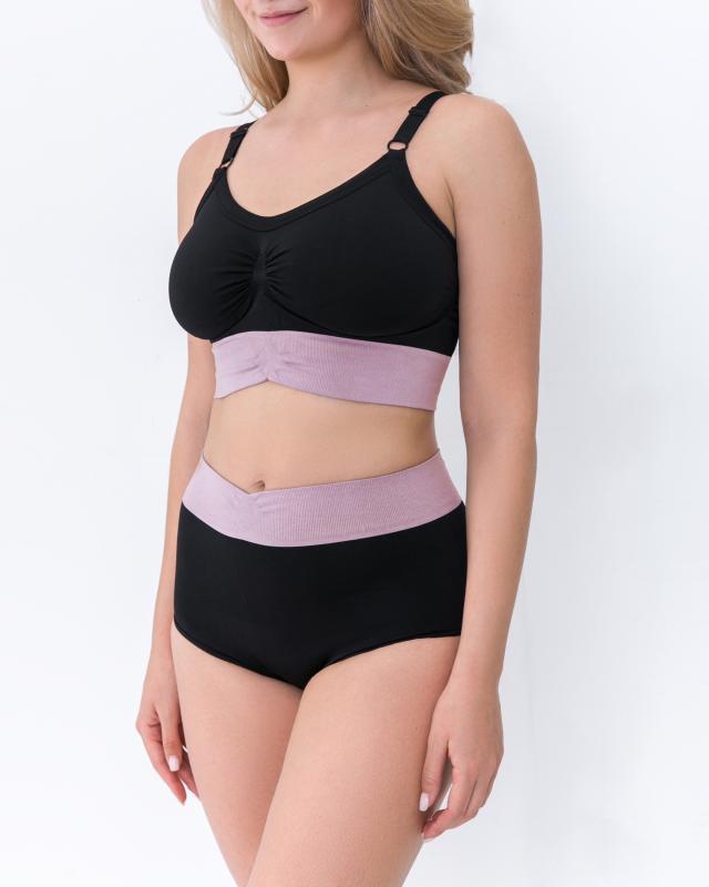 Раздельный купальник, р. XL, цвет черный/розовый