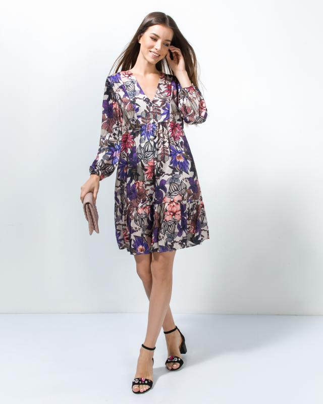 Платье, р. 56, цвет бежевый