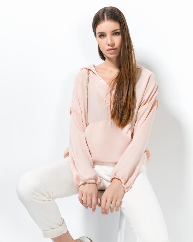 Блузка, р. 52, цвет розовый