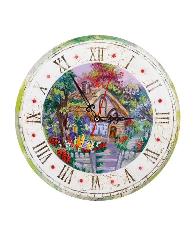 Набор для рукоделия «Часы с домиком», вышивка Panna фото