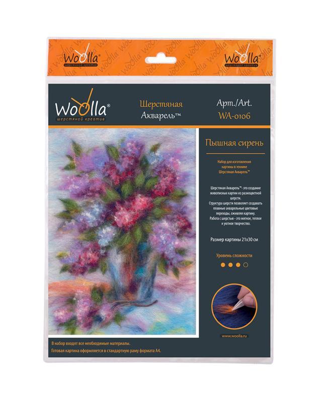 Набор шерстяная акварель «Цветы» Woolla фото