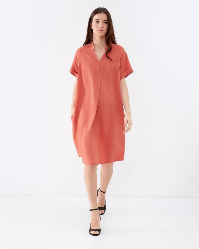 Платье, р. 58, цвет оранжевый