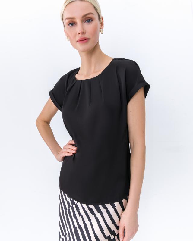 Блуза, р. 48, цвет черный