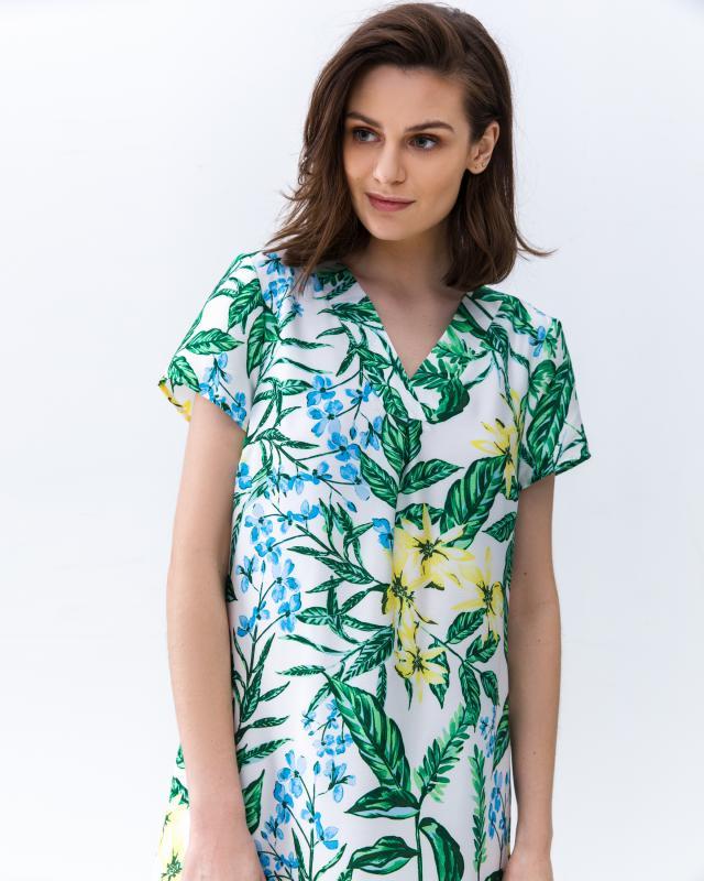 Платье, р. 52, цвет зеленый