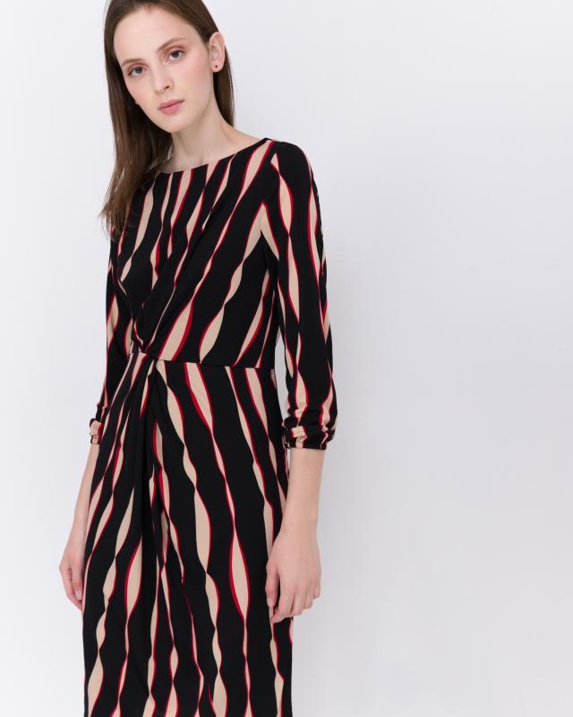 Платье, р. 60, цвет черно-бежевый