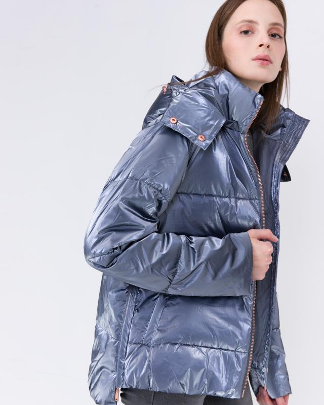 Куртка, р. 58, цвет серебристо-фиолетовый