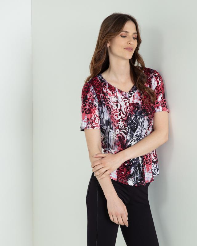 Блуза, р. 56, цвет малиновый