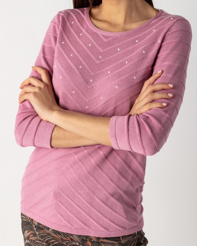 Пуловер, р. 46, цвет фиолетовый