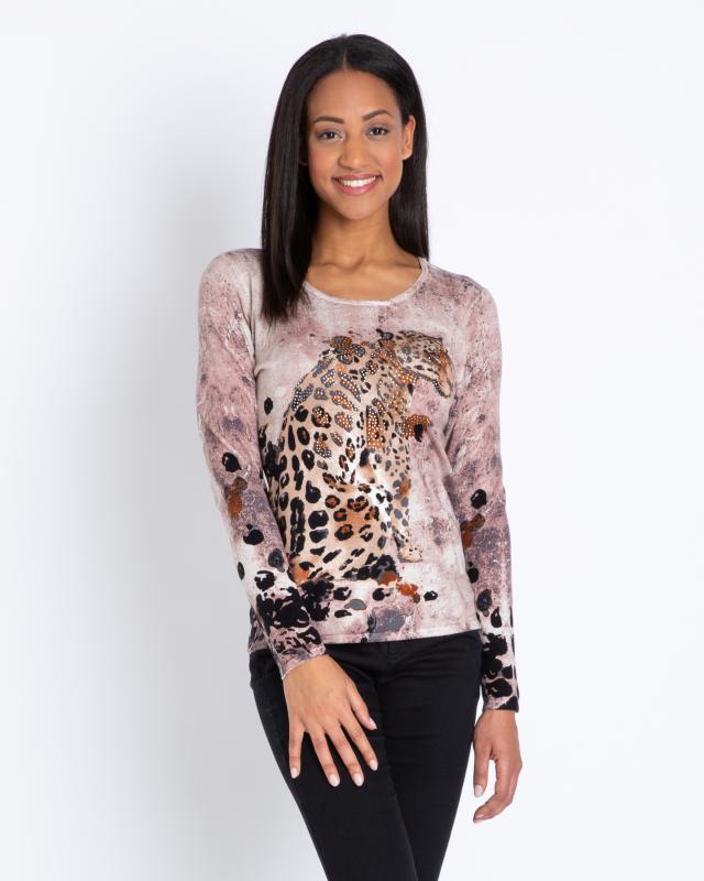 Пуловер, р. 48, цвет коричневый