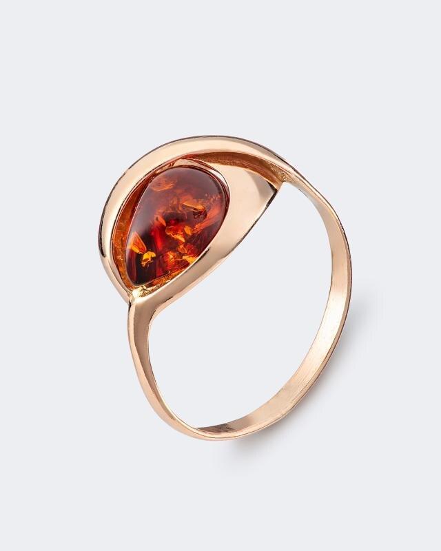 Кольцо с янтарем «Капля» Ages of Amber фото