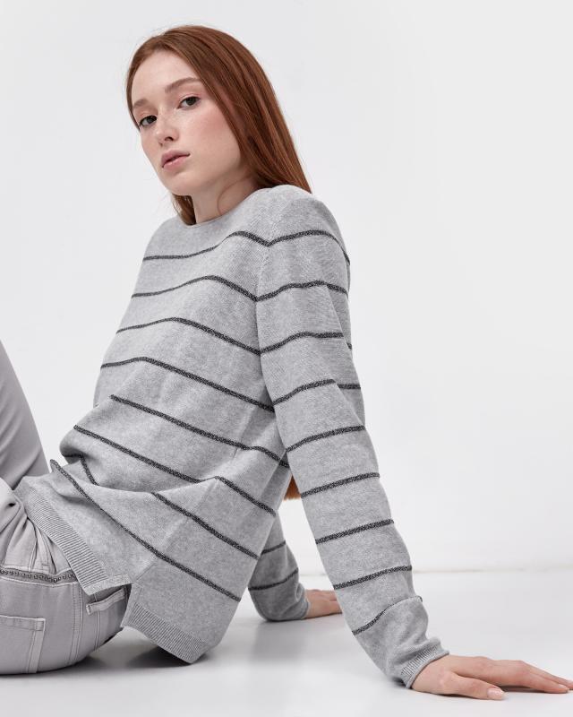 Пуловер, р. 54, цвет серый