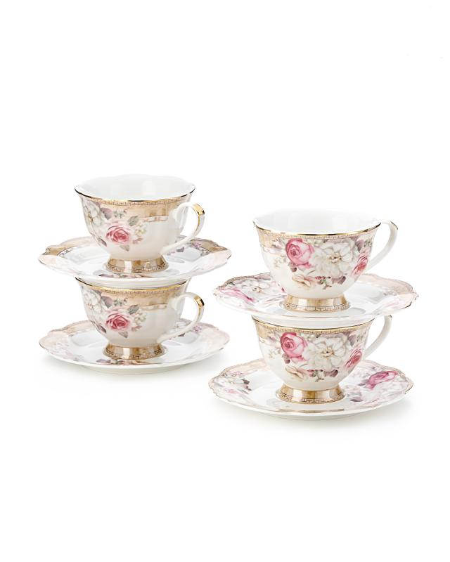 Набор: 4 чашки и блюдца Beata Casa Royal Garden