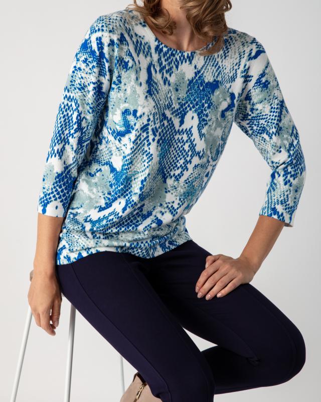 Пуловер, р. 52, цвет синий