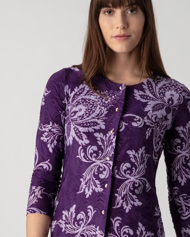 Сет: кардиган и блуза, р. 52, цвет темно-фиолетовый